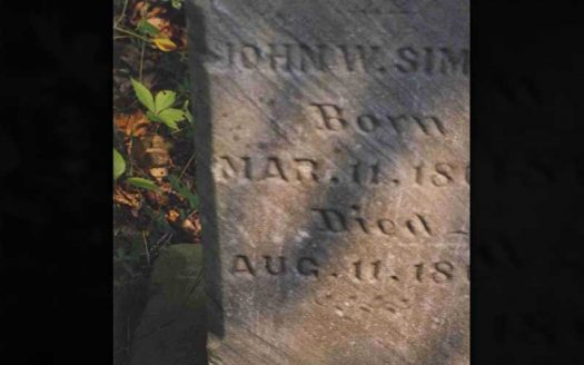 Map Spirits   Simms Cemetery in Athens OH